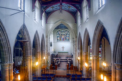 St. Gregory's Interior (dogmarten28) Tags: tower church suffolk view interior stainedglass nave font chancellor sudbury chancel eastanglia beheaded stgregorys aisles polltax 1381 archbishopofcanterbury simonteobald