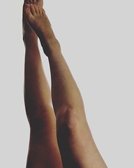 Legs up in the air (natdrw) Tags: white color contrast dark nude mine legs skin nud