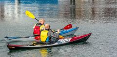 Father & Son (Richard Sir) Tags: autumn sea water colors sunshine denmark boats kayak aarhus habour nikkorafs70300mmf4556gifedvr nikond7100