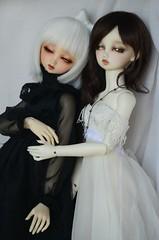 Sol y Luna (Purple  Enma) Tags: girls white black girl ball twins doll dolls sweet dream super sd una nana bjd resin dollfie volks swd yume jointed sdgr tenshi volksdoll