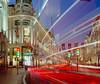 Regent Street Traffic ([J Z A] Photography) Tags: street longexposure london film analog mediumformat twilight dusk le mf lighttrails mamiya6 regent ndfilter 3stop kodakektar nikoncoolscan9000 tetenalc41 ls9000 mamiyag50mm jzaphotography