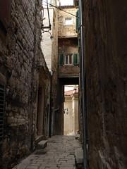 Medieval street - Šibenik, Croatia (ashabot) Tags: croatia medieval stonewall stonewalls streetscenes lightanddark historicalsites medievalstreet medievalcities medievalstreets šibenikcroatia