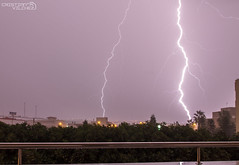 Tormenta eltrica (cristianvilchez) Tags: sky espaa storm electric night noche lluvia andaluca spain andalucia cielo tormenta lightning rayo almeria almera rayos elejido balerma