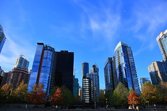 Autumn Sky And The City (memories of time) Tags: sky canada building vancouver coalharbor