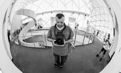 IMG_20151116_0011 (jeffk42) Tags: blackandwhite selfportrait 120 film monochrome analog mediumformat stpetersburg florida 6x7 salvadordalimuseum filmisnotdead ilforddelta3200pro mamiyarz67proii ranalog