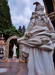 a forum of statues (SM Tham) Tags: trees italy stones statues arches marble fountains landscapearchitecture niches lakemaggiore stresa waterfeatures italianlakes gardenfolly grandhoteldesilesborromees