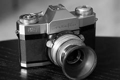Zeiss Ikon Contaflex Rapid, Carl Zeiss Tessar 50mm f2.8 (Sean Anderson Classic Photography) Tags: zeiss 50mm stuttgart sony carl f2 ikon 58mm f28 1960 442 contaflex tessar helios44 a700 contaflexrapid