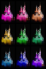 A Salute to Andy Warhol, but Mostly Cinderella Castle (Lynleigh Cooper) Tags: park christmas travel family vacation color castle castles love beautiful beauty collage night fun outside outdoors photography lights photo orlando rainbow nikon colorful pretty photographer place florida photos prism happiness places funky disney christmaslights adventure disneyworld nighttime christmasdecorations newyearseve lovely waltdisneyworld 2009 themepark christmastime familyvacation waltdisney photooftheday happiestplaceonearth cinderellacastle themagickingdom nighttimephotography waltdisneyworldresort disneyvacation disneypictures disneyfun disneycastles disneyphotos disneyphotography nighttimecinderellacastle