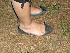 My model and her trashed flats (luk742003) Tags: shoes toe flats cleavage piedi trashed ballerine heelpop heelpopping