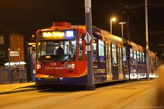 Stagecoach Supertram 124 (Tom Cousins Photography) Tags: sheffield siemens tram 124 lightrail tramway stagecoach supertram sheffieldsupertram duewag stagecoachsupertram