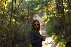 Sassy in the Woods (andrewk3715) Tags: trees nature forest lowlight woods pretty walk blonde pouty