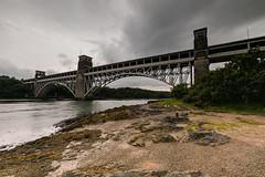 Britannia Bridge (nigel.barry22) Tags: sky cloud bridge britanniabridge menaistrait sea coast shore rock anglesey