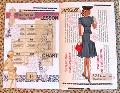 Pattern Journal #1 (Lydia's Post) Tags: journal artjournal journalpages collage junkjournal cutandpaste sewingpattern vintagepattern 1940sdress