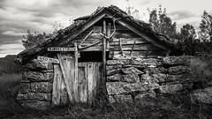 Bjrkestlen (stubinde) Tags: bjrkestlen ortnevik sognogfjordane blackandwhite blackwhite norway fjord mountains cottage experiaz2