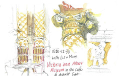 6aug2016 V&A wtih Liz & Mum (alissa duke) Tags: london victoriaalbertmuseum vamuseum urbansketchers