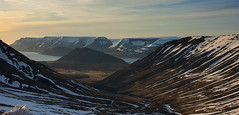 Exploring Iceland's Westfjords (lunaryuna) Tags: iceland westiceland westfjords landscape panoramicviews ontop mountainrange fjord mountain striations snowcappedmountains spring season seasonalchange evening thelongsun nature beauty solitude silence lightmood lunaryuna ngc