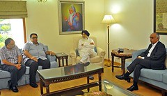Punjab Chief Minister Parkash Singh Badal presided over an emergency meeting to review the current situation in the wake of recent developments at Indo-Pak border at his official residence in (Shiromani Akali Dal) Tags: punjab shiromaniakalidal sad