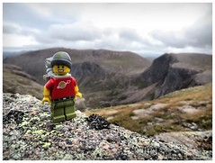 When the wind blows (Macsen Wledig) Tags: legodan lego mountains cairngorms cairngorm hiking walking minifigs granite rock moss crag shelterstonecrag carnetchachan beinnmheadhoin cairngormsnationalpark wind windy autumn september scotland al
