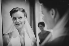 Bride (siebe ) Tags: weddingphotography 2016 holland nederland netherlands bruidsfotografie bruidsreportage bruiloft dutch marriage trouwdag trouwen trouwreportage wedding weddingday mirror spiegel mother look veil bride bruid blackandwhite