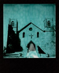 our lady of sorrows (a perhaps hand) Tags: polaroid600 polaroidcamera instantcamera theimpossibleproject duochromefilm newmexico church catholic