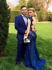 Mermaid Prom/Evening Dress (maweiyu) Tags: mermaid prom evening dress floor length cap sleeves navy blue vneck