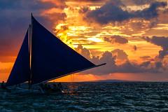 Paraw & Sunset (shutterbug_russ) Tags: boracay sunset paraw sailboat teampilipinas