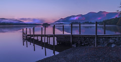 Ashness Jetty and Skiddaw at Sunrise (Jonnyfez) Tags: lake district national park ashness jetty water flat mirror reflection keswick derwentwater d750 nikon jonnyfez fells mist sunrise