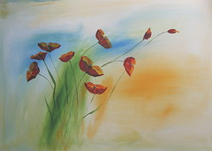 summer feeling for the wall (Xtraphoto) Tags: kunst gemalt acryl acrylic canvas poppy poppies mohn mohnblumen blumen flowers red art