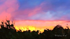Melting Light 4 (Salwa Afef) Tags: sunlight sunset motion slowshutter longexposure abstract nature natureabstract sky cloud dusk