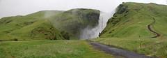 Skogarfoss 2 - Iceland (Xtian du Gard) Tags: cascade iceland islande green water panorama landscape paysage waterfall xtiandugard