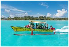 """Friendly Wave"" - Bora-Bora, Tahiti (TravelsWithDan) Tags: tourgroup boat aquawater waving borabora tahiti island lagoon paradise canong16"