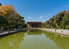 Pond at chehel sotoun forty columns palace, Isfahan province, Isfahan, Iran (Eric Lafforgue) Tags: abbas architecture beauty chehelsotoun colorimage copyspace day decoration destinations esfahan garden green historic horizontal incidentalpeople iran iranian isfahan ispahan landscape middleeast monument nature old outdoors palace people persia plants quiet residence royal sight sotoun tourism touristic tranquil tranquility trees isfahanprovince
