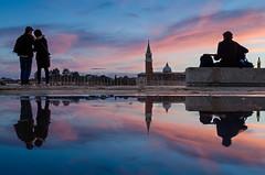 Reflection (Marco Petretti) Tags: reflection sunset venice tramonto venezia sangiorgiomaggiore san giorgio maggiore clouds cloudy