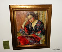 """""""The kimono"""", oil on canvas by Ion Theodorescu-Sion exhibited in the pinacotheca of Bucharest, hosted by Bucharest city museum (cod_gabriel) Tags: bucuresti bucureti bucharest bucarest bucareste bukarest boekarest romania roumanie romnia museum muzeu bucharestcitymuseum muzeulbucuretiului palatuluu palatulsutu painting oiloncanvas uleipepnz kimono iontheodorescusion pinacoteca pinacotec pinacotheca"""