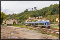 17-10-16 Trenitalia ATR 220 007, Castelnuovo di Garfagnana (Julian de Bondt) Tags: trenitalia atr220 pesa castelnuovo di garfagnana fs swing