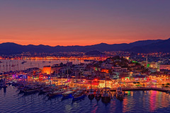 Marmaris at night [Explored 2016-10-21] (T.Seifer) Tags: abends night bluehour city cityscape marmaris trkei d610 evening fx hafen harbour nikon nikkor1635 nacht photography port reisefotografie travel stadt