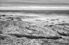 (- Man from the North -) Tags: blackandwhite bw bwlongexposure sea rocks water gulfofbothnia finland westcoast ostrobothnia dramaticsky sky windy longexposure nikond7000 nikon tamron1750f28 haidaproii