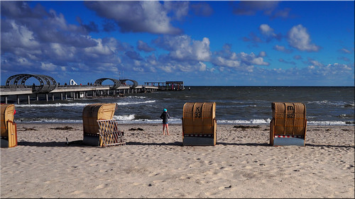 An autumn day on the beach of the Baltic Sea
