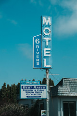 Six Rivers Motel (Jeremy Brooks) Tags: california fortuna humboldtcounty motel neon usa camera:make=fuji camera:make=fujifilm camera:model=xpro1