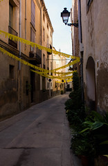 Celebrations (gina.nicole.tesloff) Tags: celebrations spain street sky summer hot travel tradition green yellow baige design artistic architecture up walking enchanting exotic romantic texture outdoors pattern plant pretty perspective sun shadow glow home house history light life canon contrast view vintage village beautiful brown bright