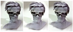 ORIGAMI GUY WITH GLASSES...(OR ME ?) V.1. :P (Neelesh K) Tags: origami self spectacles glasses head practice boxpleating