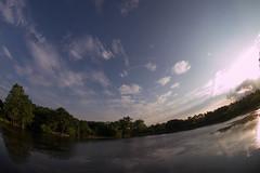 Lake (nak.viognier) Tags: lake ryokuchipark osaka 緑地公園 olympusepl3 lumixgfisheye8mmf35