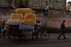Use of trikes 2 (victoriaei) Tags: kolkata october streetscenes trike delivery overloaded travel d5300 indianstreetphotography streetphotography asia nikon