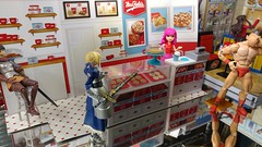 Meanwhile, at the Paprihaven mall food court... (CMUltra) Tags: lgv20 miworld figma bandai kinnikuman muscleman sabre fatestaynight berserk casca dq dairyqueen mrsfields cookies 112 diorama toy rintohsaka