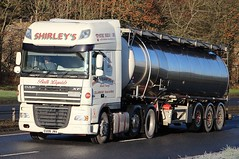 DAF XF - SHIRLEY'S Transport Stoke-on-Trent Staffs. (scotrailm 63A) Tags: lorries trucks tankers