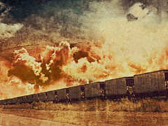 Train in vain {319/366} (therealjoeo) Tags: train sky clouds texture texas clash 365 366 365project