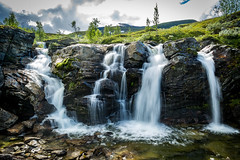 Turtagrø Waterfall, Fortun, Sogn og Fjordane, Norge (North Face) Tags: norway norwegen norge waterfall nature summer landscape water rocks landschaft natur wasserfall canon eos 5d mark iii 5d3 24105l long exposure