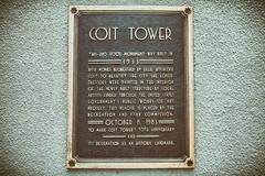 Coit Tower Plaque (draydogg) Tags: coittower telegraphhill sanfrancisco plaque