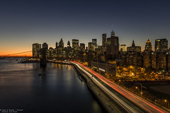 FDR drive, NYC (Dennis van Dijk) Tags: city scape view new york le long exposure sunset blue hour light trails canon wanderer beauty manhattan usa