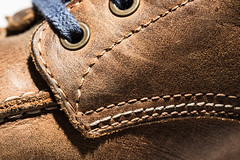 macro mondays - stitch (tinfrey) Tags: 2016 canonef100mmf28macrousm canoneos6d boots brown leather macro macromondays november objects shoes stitch things